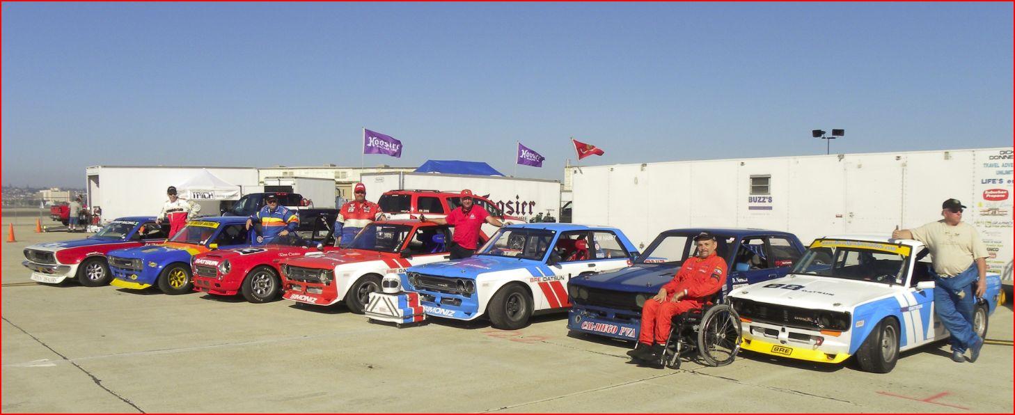 The Field of Datsuns at Coronado 2009