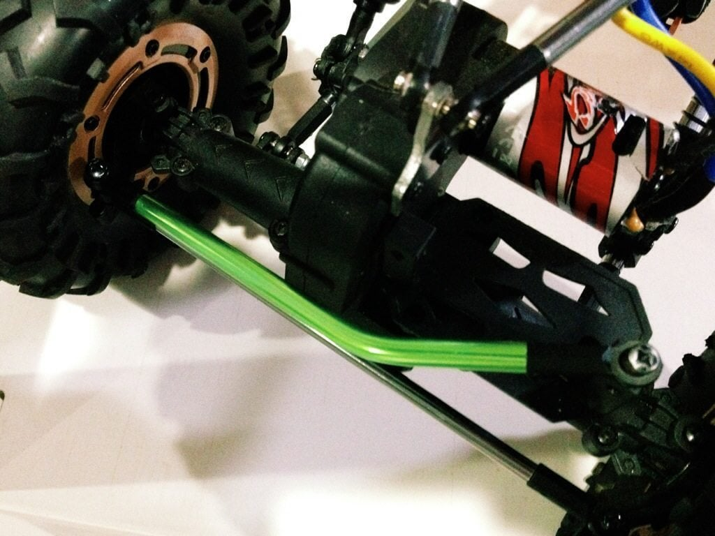 Frankencrawler rides again! A quick & easy way to build a rear-steer lockout brace for the Redcat Racing RS10.