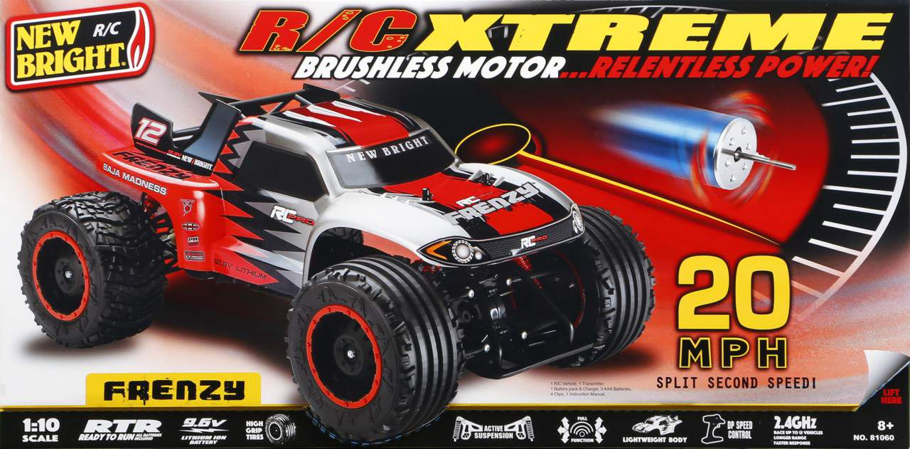 New Bright RC Frenzy Brushless Stadium Truck - Box Front