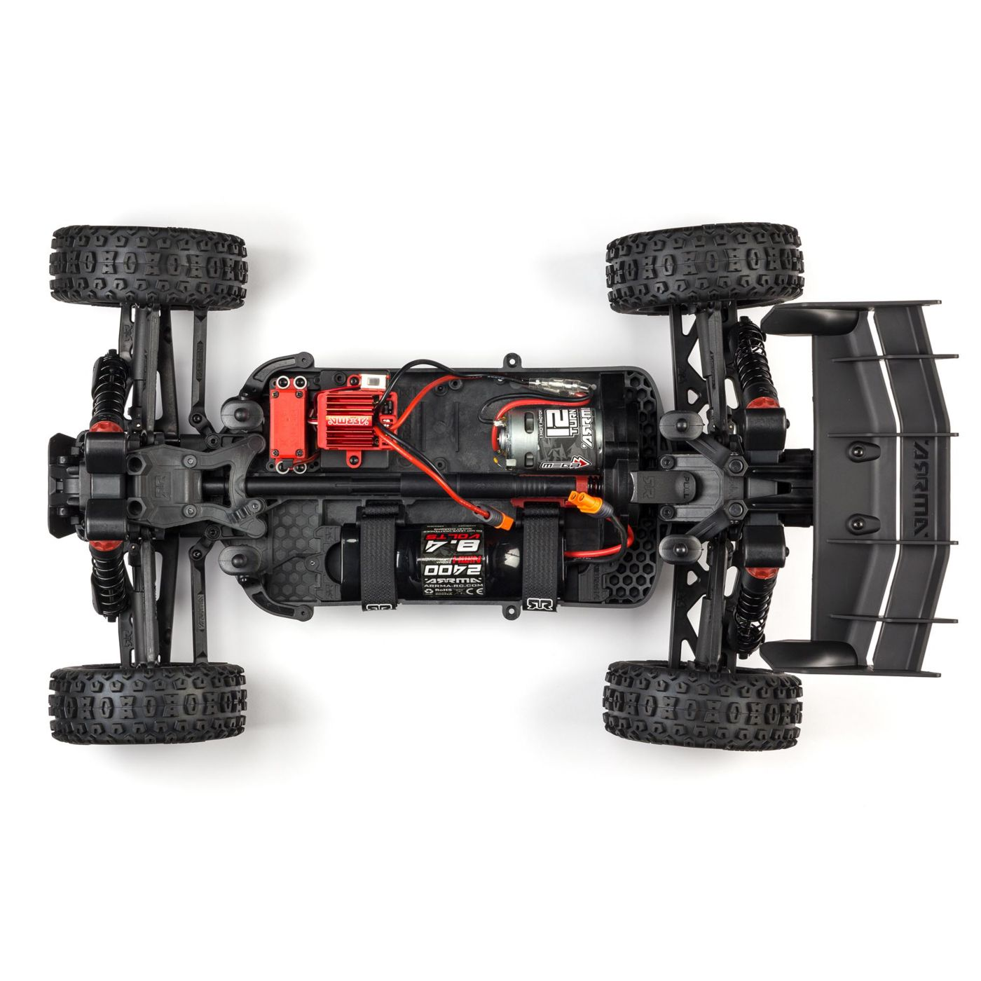 ARRMA Typhon 4x4 MEGA Speed Buggy - Chassis Top