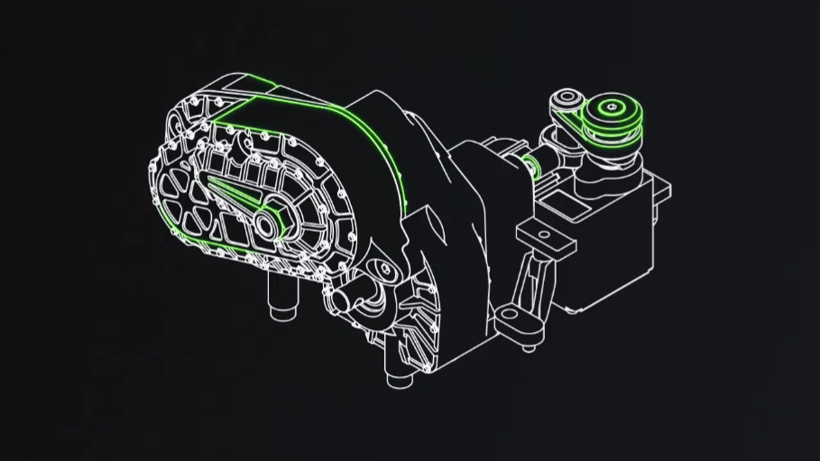 Axial Capra Gearbox - Angled