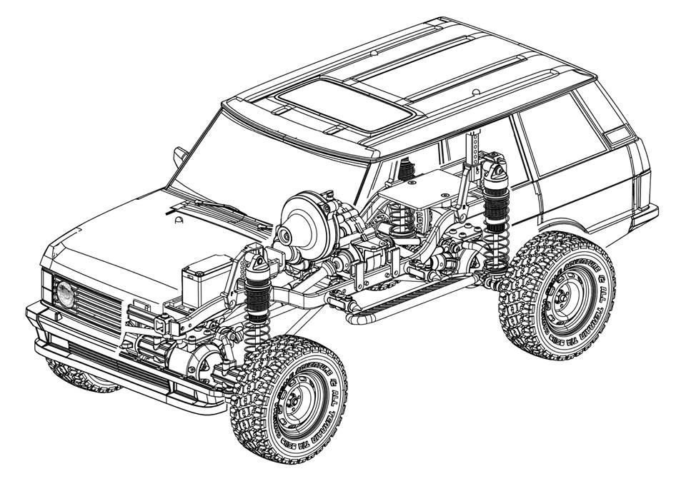 Carisma Scale Adventure SCA-1E Land Rover Kit - Diagram