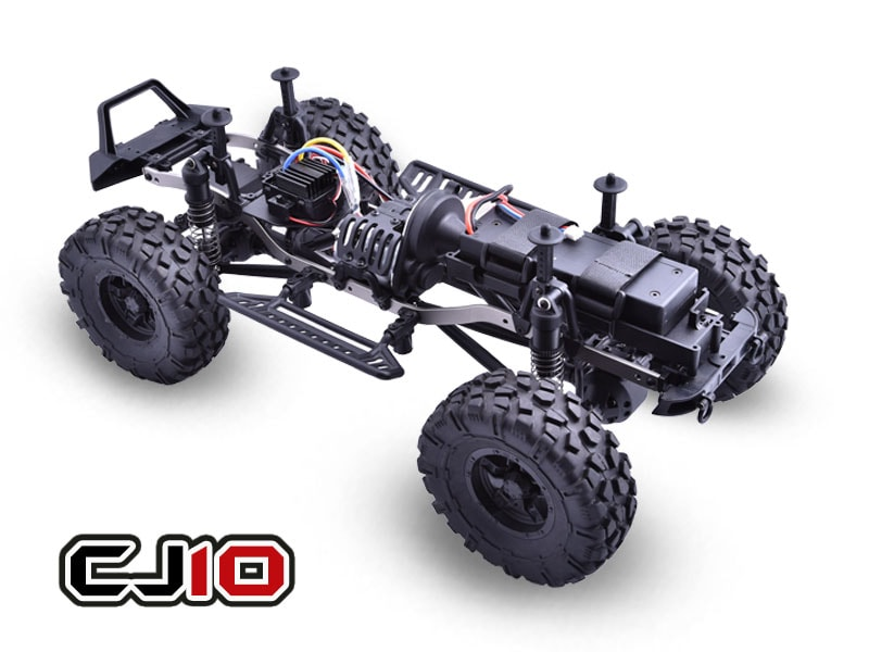 Caster Racing CJ10-16-RTR 1:10 Jeep Rock Rocket - Chassis