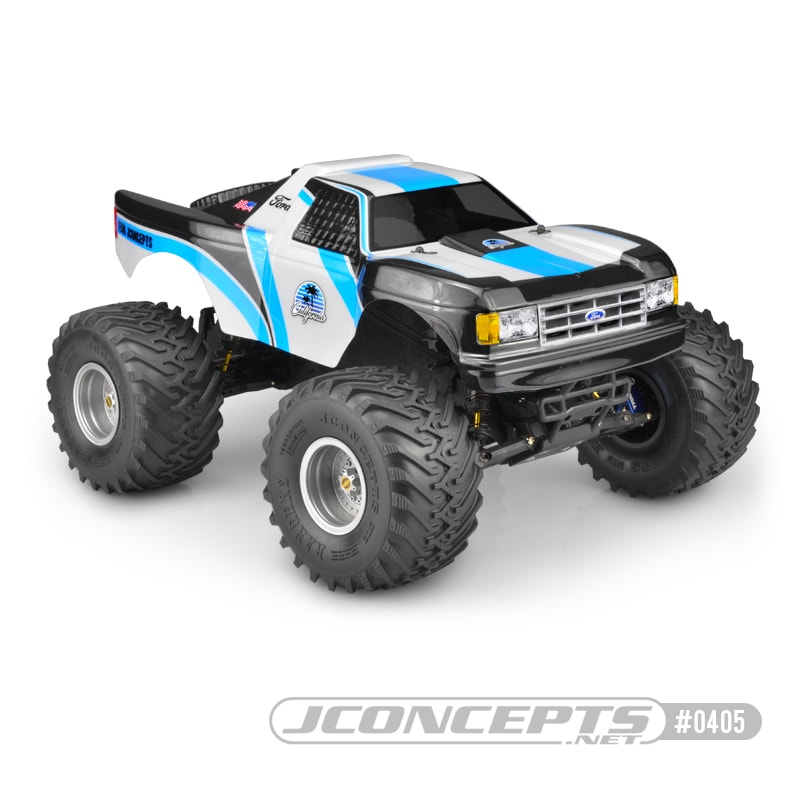 "JConcepts '89 Ford F-150 ""California"" Monster Truck Body for the Traxxas Stampede"
