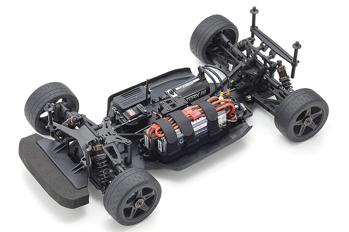 Kyosho Inferno GT2 Dodge Challenger Go Mango - Chassis