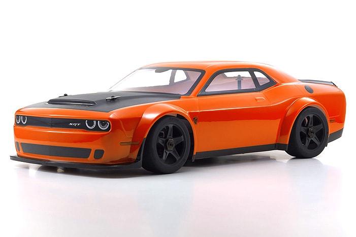 "Kyosho's Inferno GT2 VE Dodge Challenger SRT Demon ""Go Mango"""