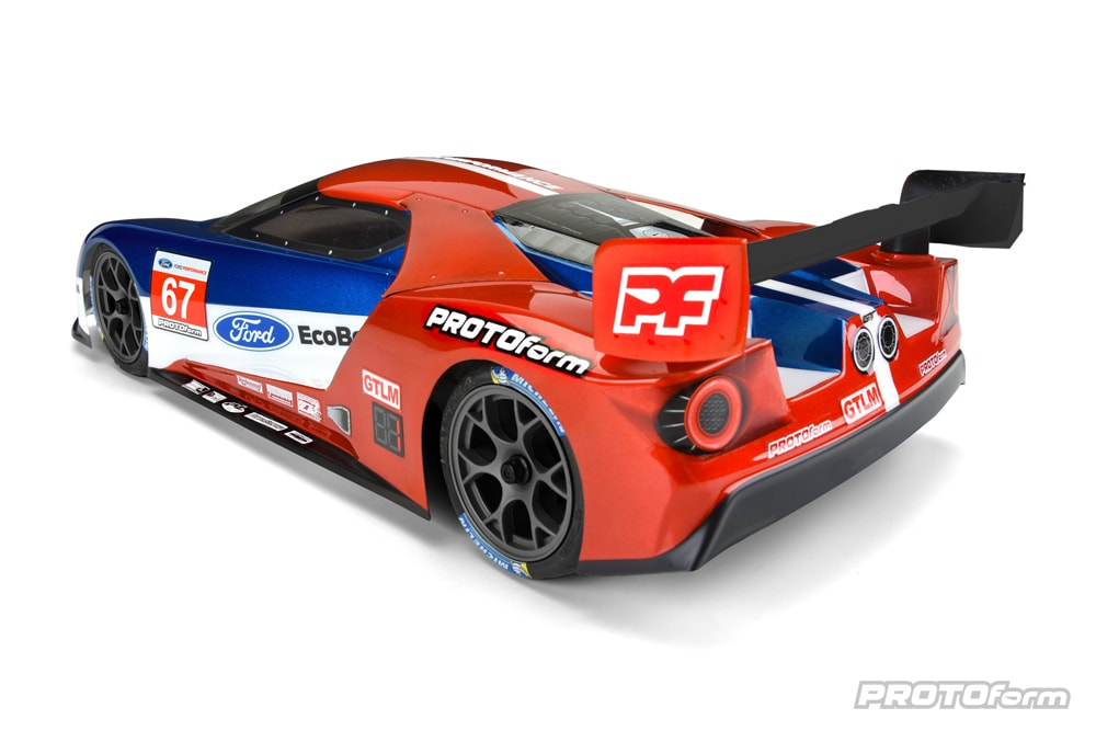 PROTOform Ford GT Clear Body for 190mm Touring Cars - Rear