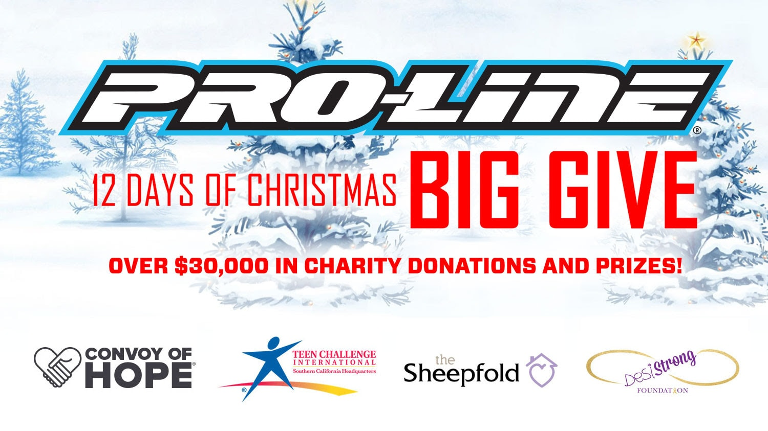 "Enter to Win in Pro-Line's ""12 Days of Christmas Big Give 2018"" Sweepstakes"