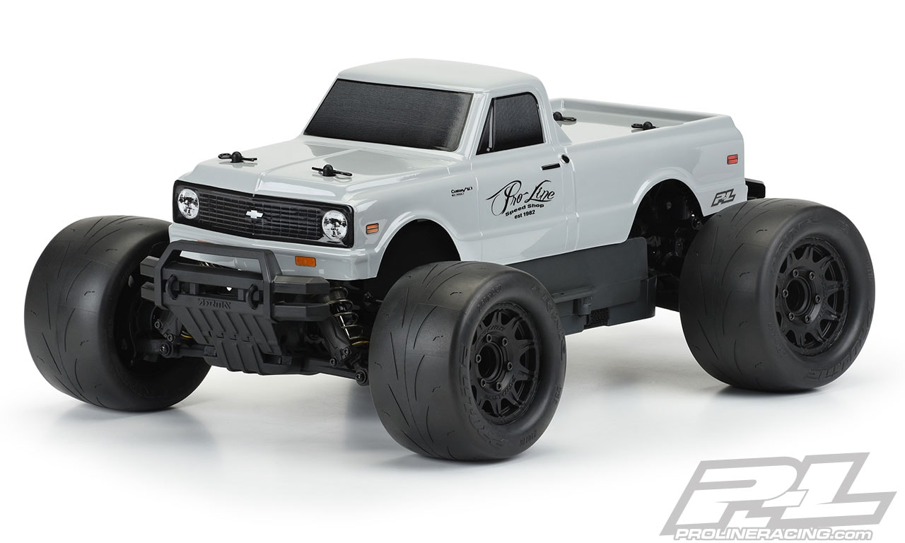 """Pro-Line 1972 Chevy C-10 """"Stone Gray"""" Tough-Color Monster Truck Body"""