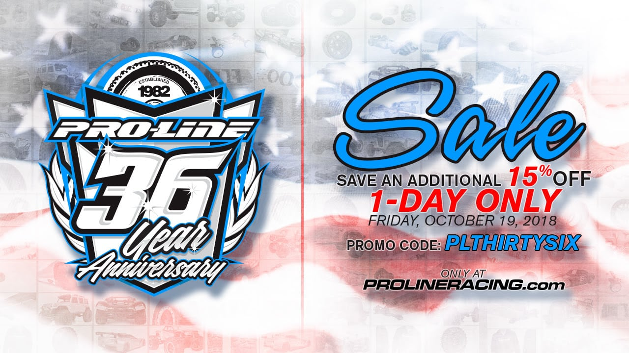 One Day Only: Celebrate Pro-Line's 36th Anniversary with 15% Off