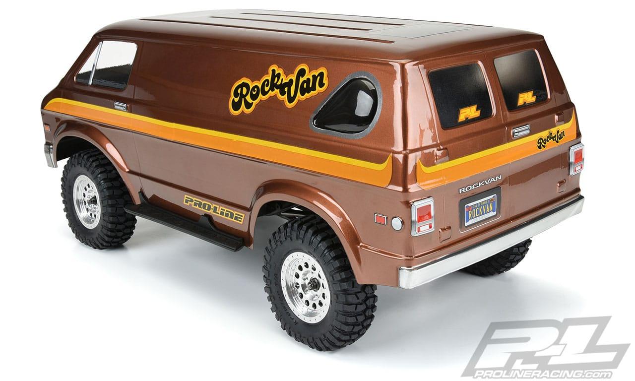 Pro-Line 70s Rock Van Clear Crawler Body - Rear