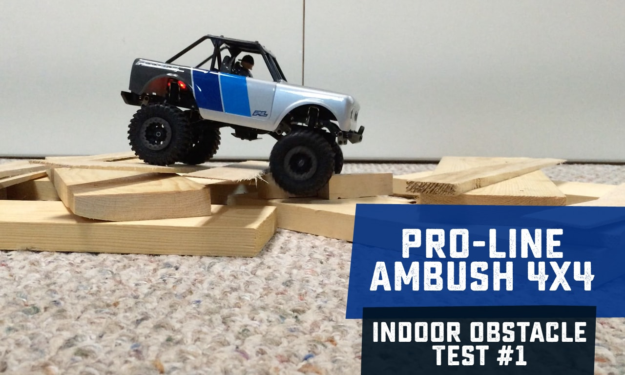 Pro-Line's Ambush 4×4 and Indoor Obstacles [Video]