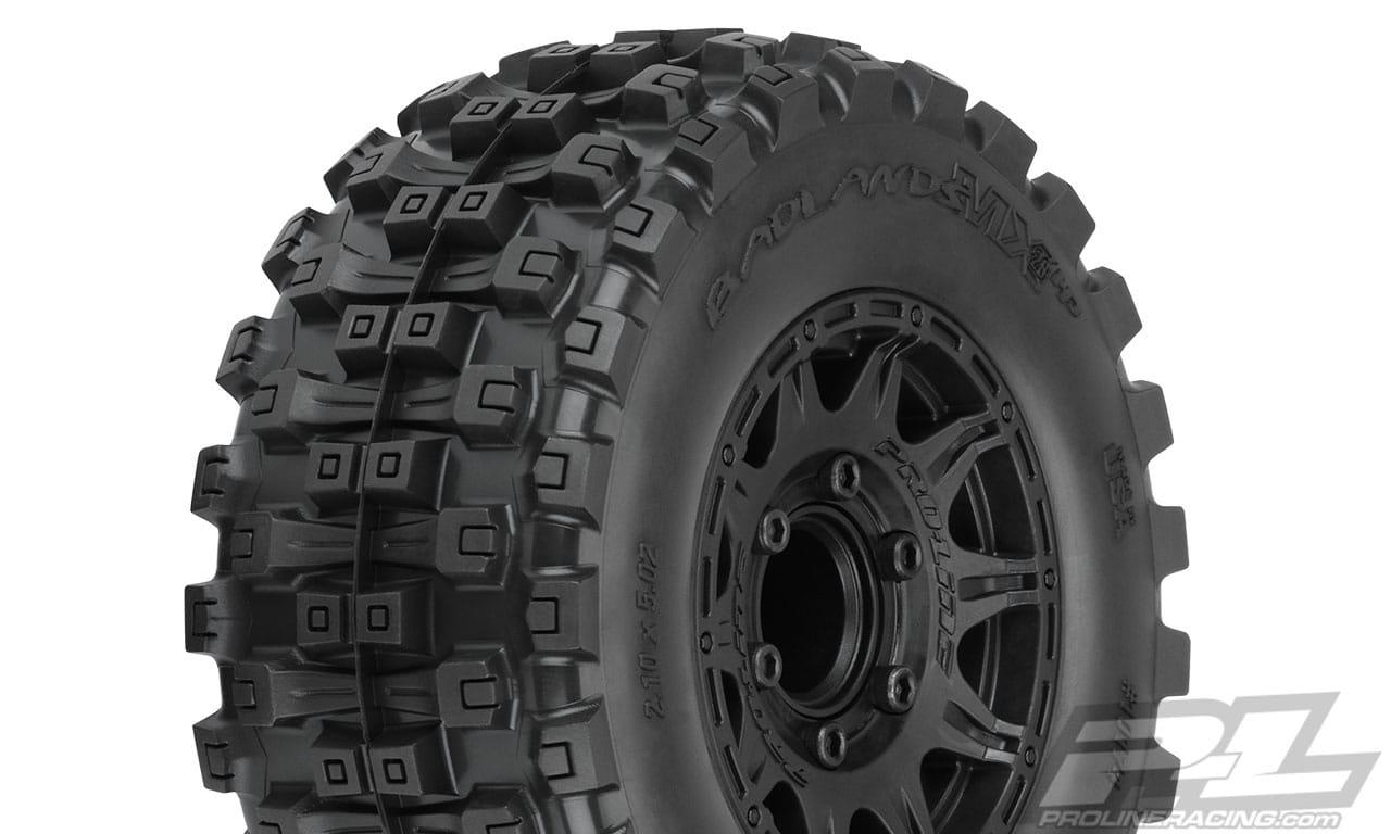 Pro-Line Pre-Mounted Badlands MX28 HP 2.8″ Belted Monster Truck Tires