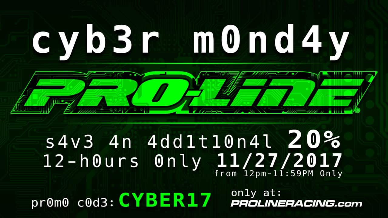 Cyber Monday Deals from Pro-Line