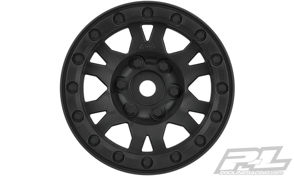 Pro-Line Impulse 1.9″ Black Plastic Bead-loc Wheels