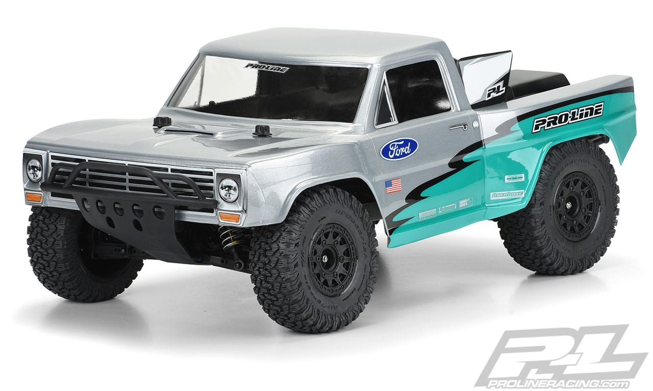 Pro-Line Pre-Cut 1967 Ford F-100 Clear, 1/10-scale Short Course Truck Body