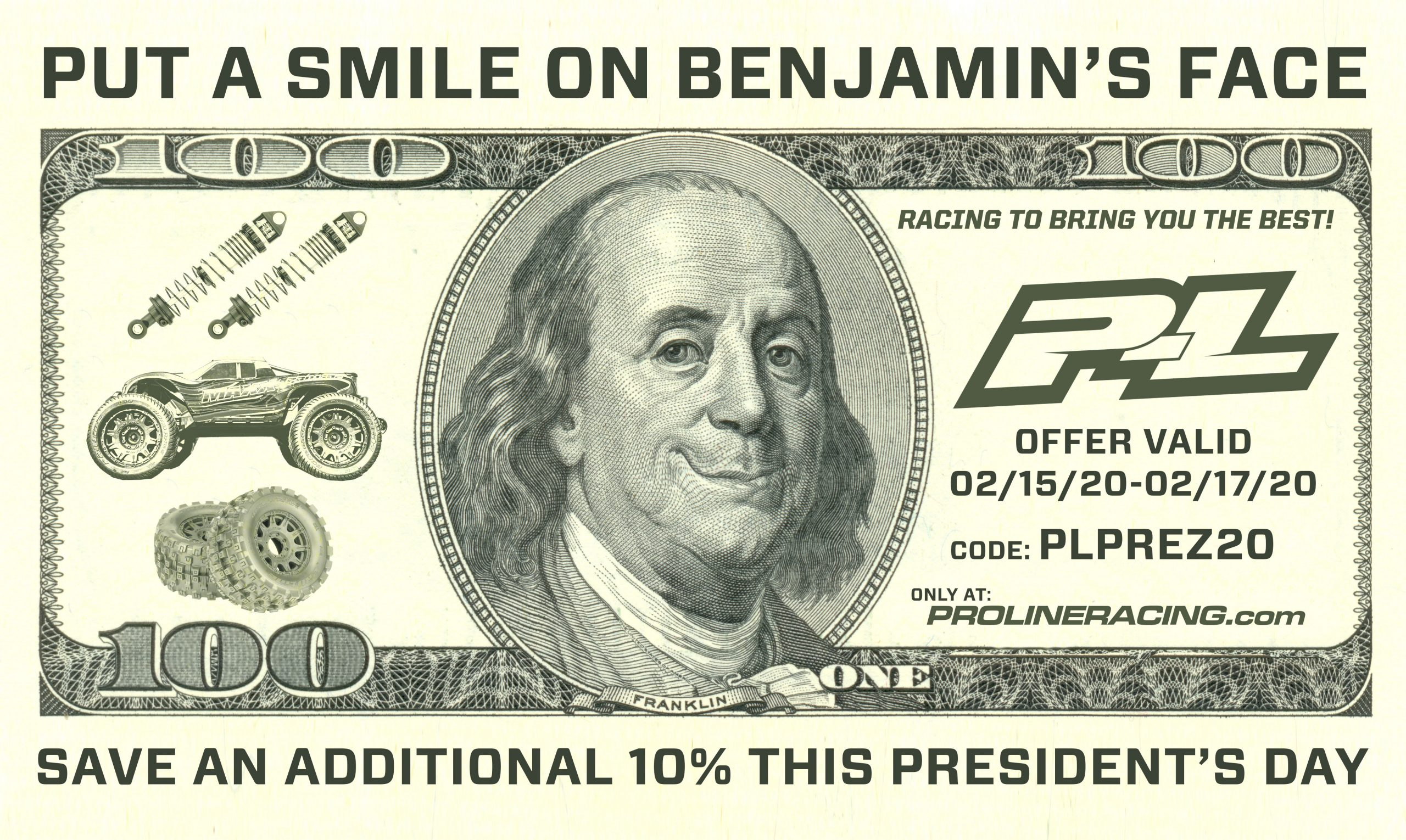 Save an Additional 10% During Pro-Line's Presidents Day Sale