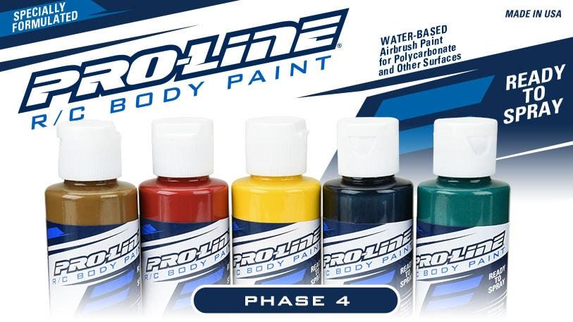"More Colors, More Creativity: Pro-Line's ""Phase 4"" R/C Body Paints"