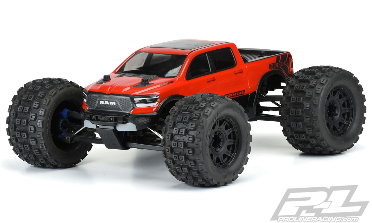 Pro-Line 2020 Ram Rebel 1500 Pre-cut Bodies for the Traxxas E-Revo 2.0 and ARRMA Kraton 6S