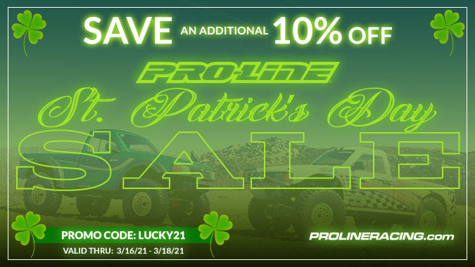 Celebrate St. Patrick's Day with 10% Off at Pro-Line