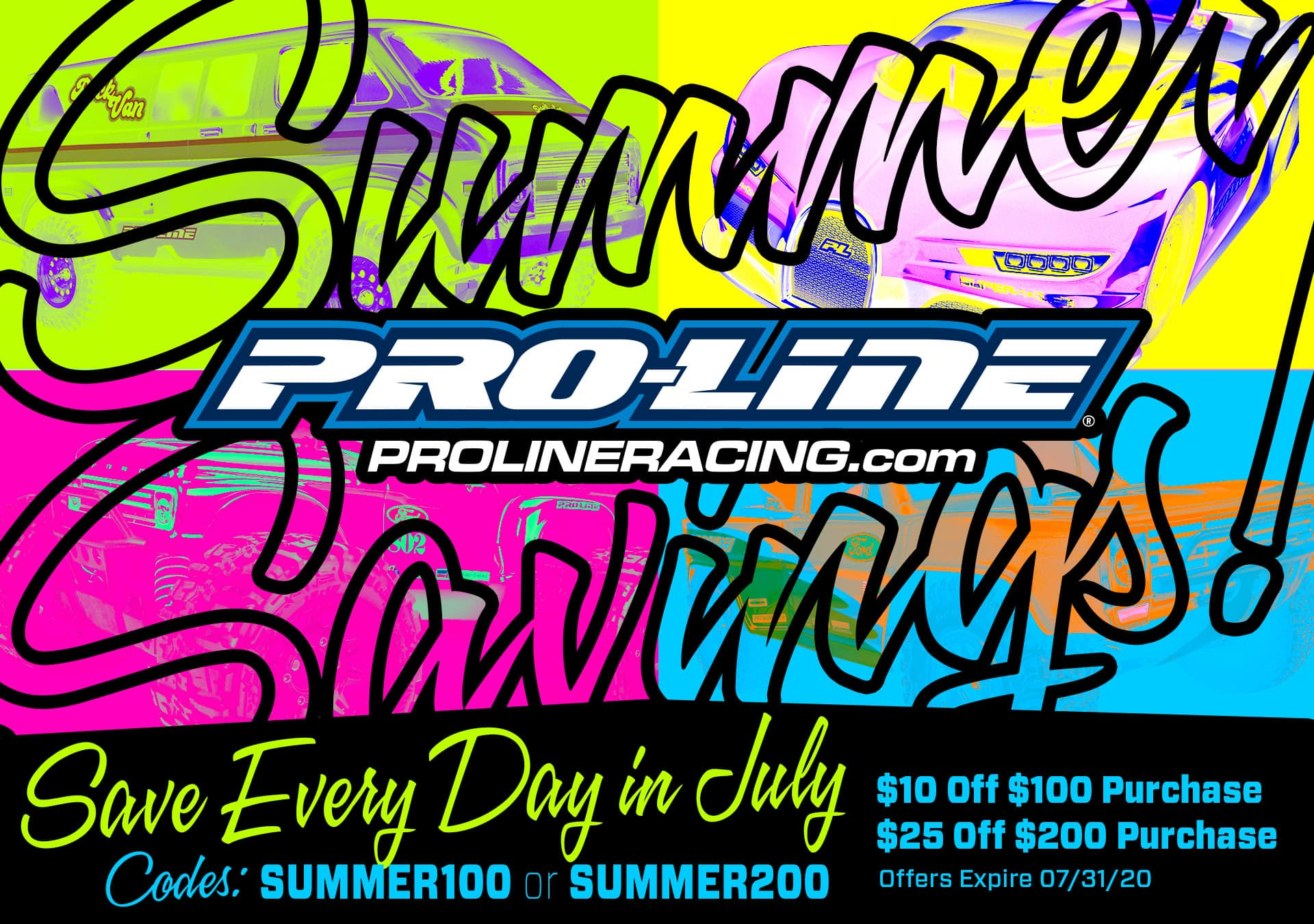 Save on Upgrades Every Day in July with Pro-Line's Summer Savings Sale