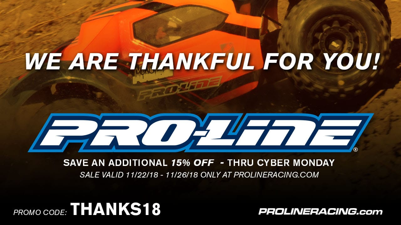 Snap Up Extra Savings During Pro-Line's Thanksgiving Sale