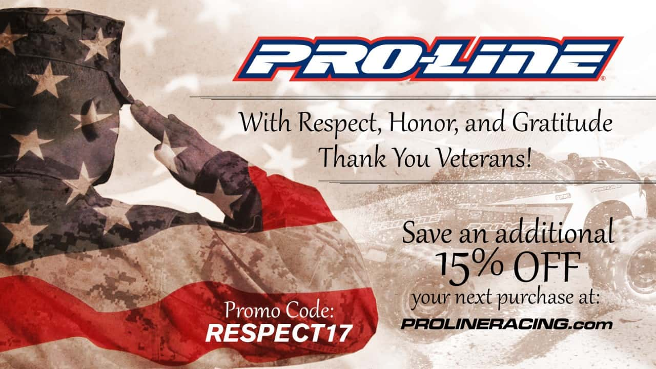 Save 15% During Pro-Line's Veterans Day Sale