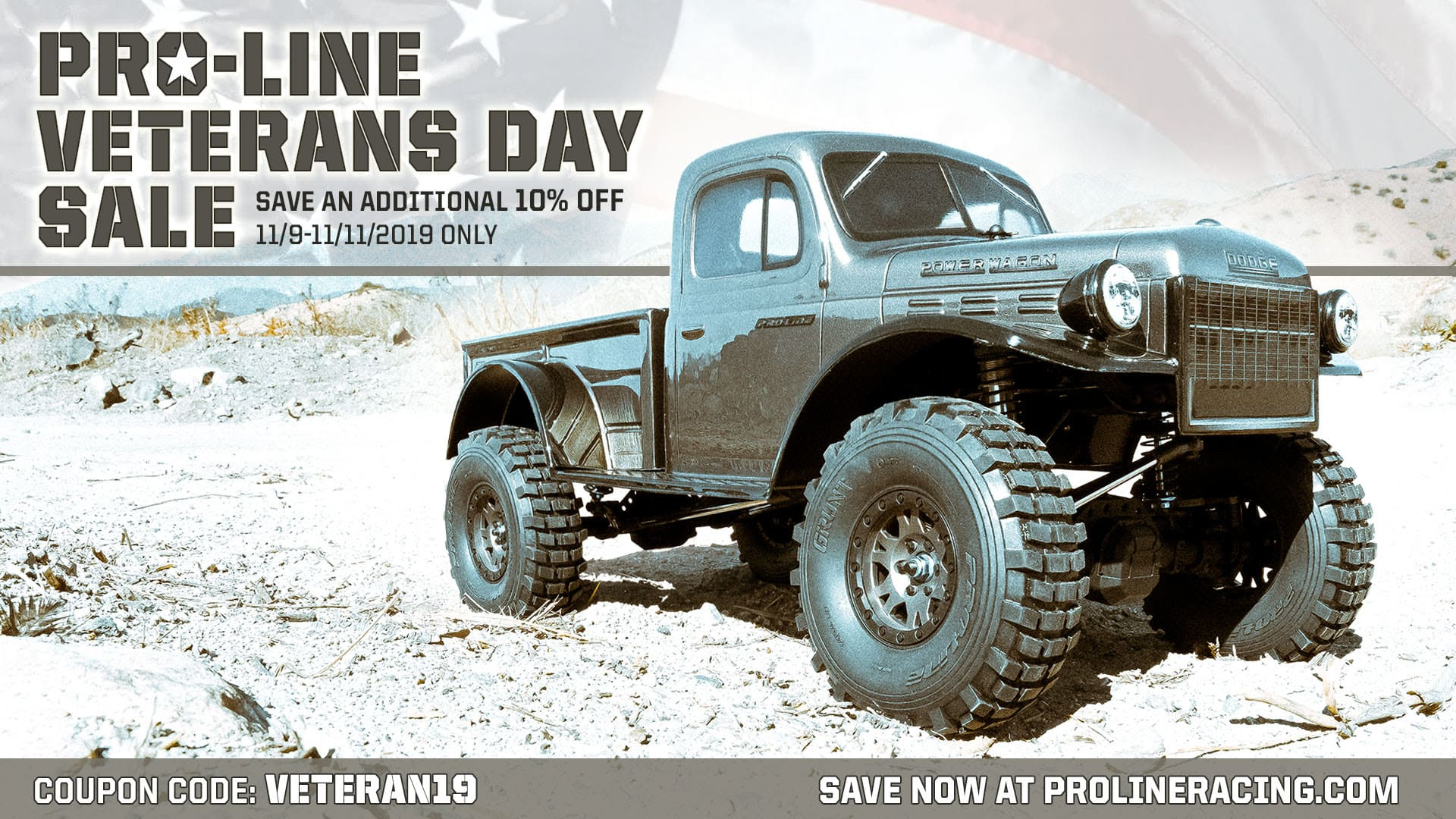 Celebrate Veterans Day with a 10% Discount from Pro-Line