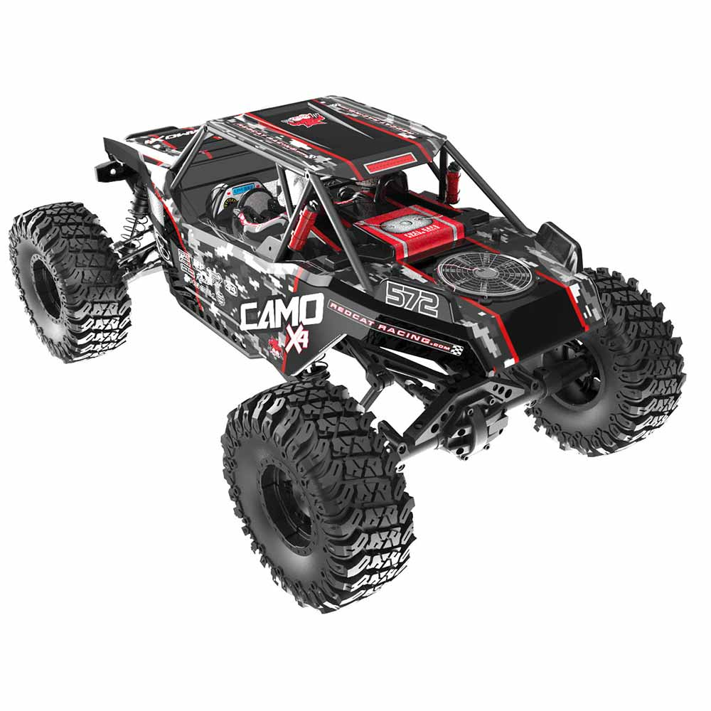 Redcat Racing Camo X4 Rock Racer - Rear Top