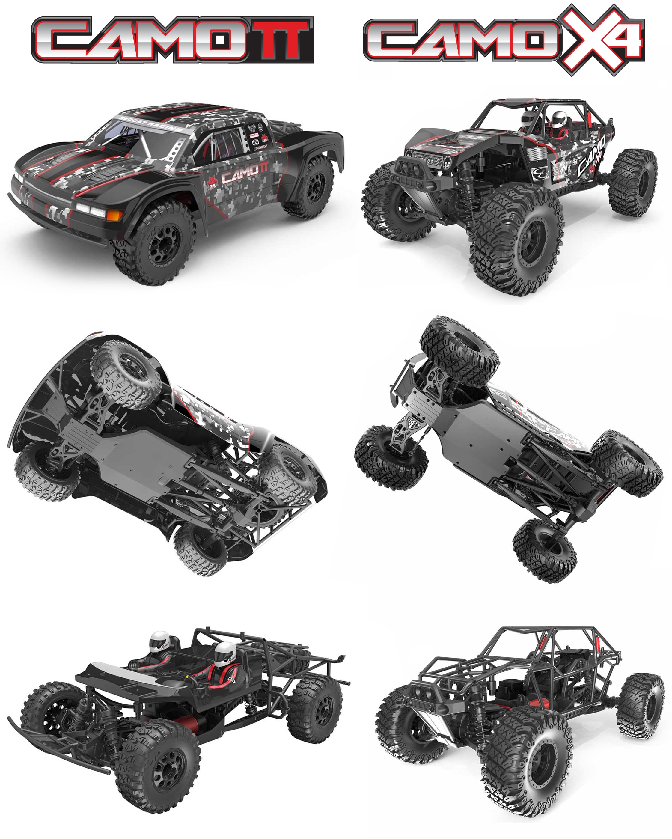 Redcat Racing Camo-X4 and Camo-TT Side-by-Side