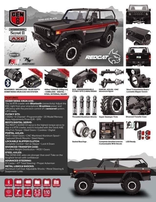 Redcat Racing GEN8 Axe Edition - Unconfirmed Specsheet
