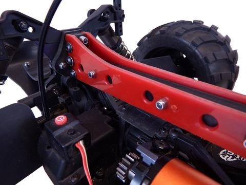 T-Bone Racing Upper Chassis Brace for the Tekno MT410 - Detail