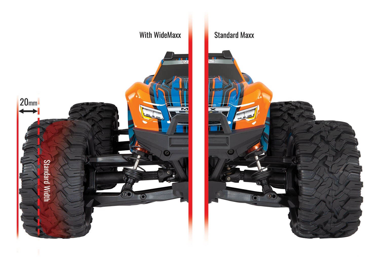 Traxxas WideMaxx Handling Kit - Comparison