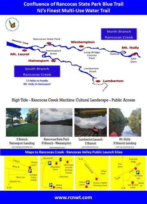 maps of creeks water trails