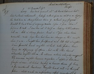 A page from Barnes' Case Book (archive reference S60/C). This page describes a delivery using forceps (image 1 of 2).