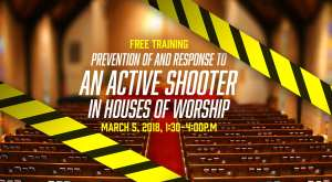 Free training - active shooter training in houses of worship slider