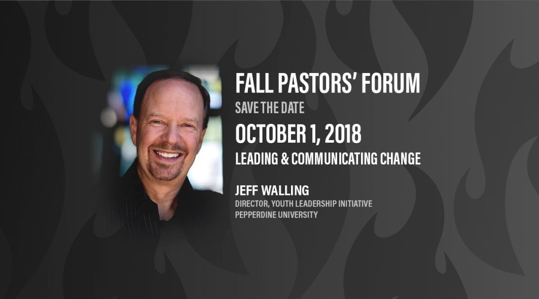 Pastor's Forum Fall 2018 - Save the date