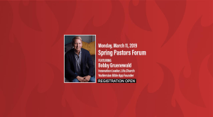 SPRING 2019 Pastors Forum
