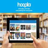 hoopla one app. one tap. everything for everyone. Instantly borrow free digital movies, music, ebooks and more, 24/7 with your library card.