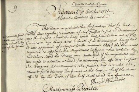 Sederunt Minute Book October 1771