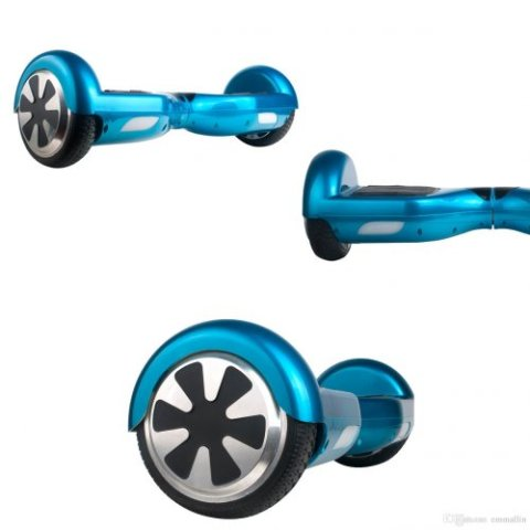 S36 Self Balancing Wheel 6.5 inch Chrome Blue