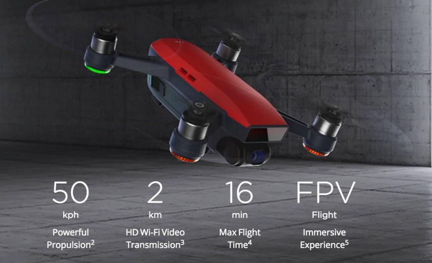 DJI Spark mini dron