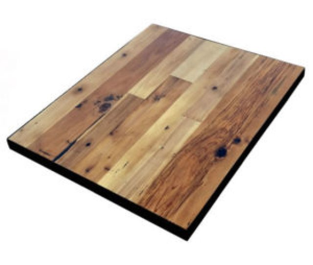 Reclaimed Wood Table Tops With Metal Edge Economy
