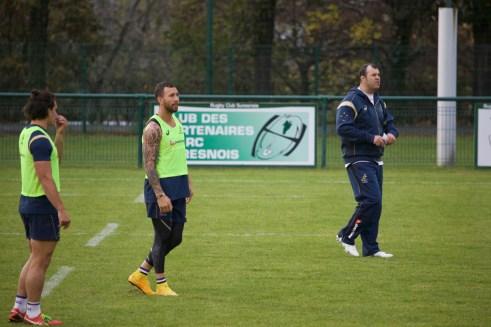 Quade Cooper et coach Michael Cheika