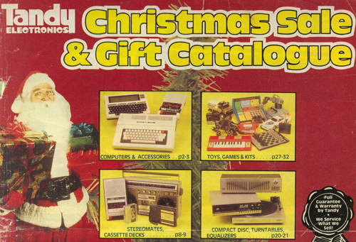Tandy Christmas Sale And Gift Catalogue, 1984