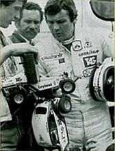 Alan Jones examines a Tamiya Rough Rider and Tamiya Sand Scorcher, sometime prior to 1985