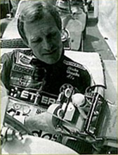 Dieter Quester holding a Tamiya Wild Willy, sometime prior to 1985