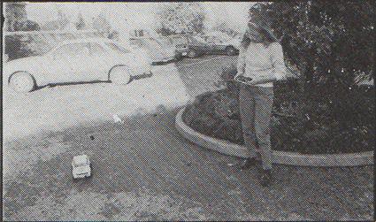 Audi Quattro co-driver Fabrizia Pons test driving Tamiya Audi Quattro, RAC Rally 1984