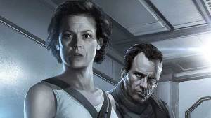 Concept art of Sigourney Weaver and Michael Biehn in the proposed Alien 5 sequel by Neill Blomkamp, that never took off.