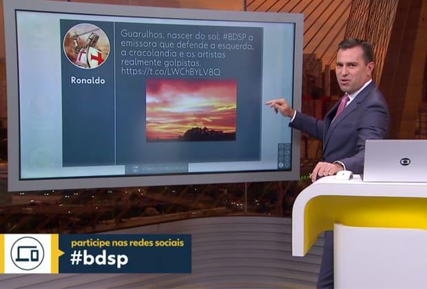 Rodrigo Bocardi surpreende e lê ataque à Globo ao vivo em telejornal; Chico Pinheiro ironiza comentário